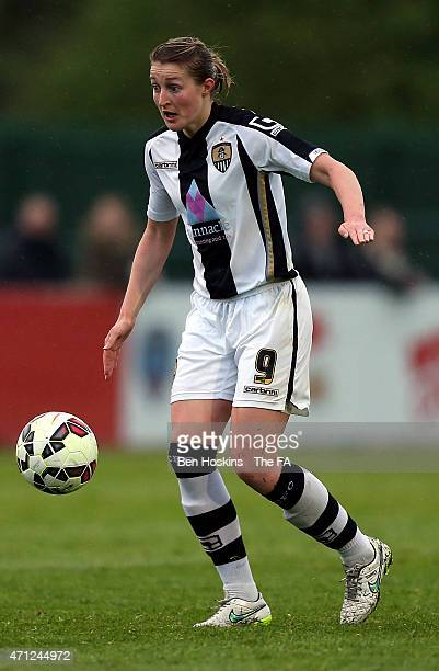 Ellen White of Notts County in action during the WSL match between Bristol Academy Women and Notts County Ladies FC at Stoke Gifford Stadium on April...