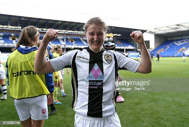 Ellen White of Notts County Ladies celebrates the win during the Women's FA Cup Semi Final match between Everton Ladies and Notts County Ladies at...