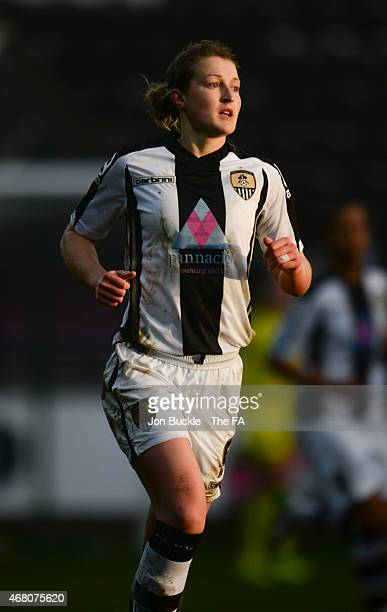 Ellen White of Notts County Ladies FC during the WSL match between Notts County Ladies FC and Chelsea Ladies FC at Meadow Lane on March 29 2015 in...