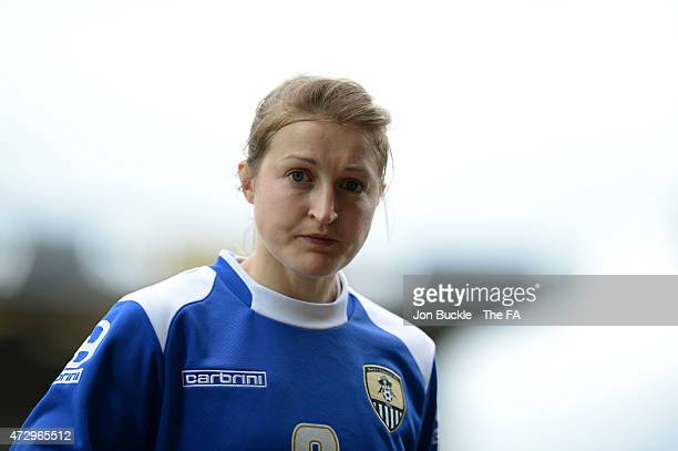 Ellen White of Notts County Ladies FC walks off the pitch after the warm up during the WSL match between Notts County Ladies and Liverpool Ladies at...