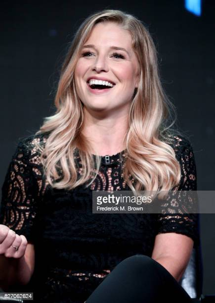 Ellen Woglom of 'Inhumans' speaks onstage during the Disney/ABC Television Group portion of the 2017 Summer Television Critics Association Press Tour...