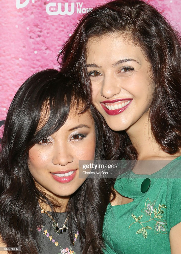 <a gi-track='captionPersonalityLinkClicked' href=/galleries/search?phrase=Ellen+Wong&family=editorial&specificpeople=5942822 ng-click='$event.stopPropagation()'>Ellen Wong</a> (L) and Katie Findlay attend 'The Carrie Diaries' Season Two Premiere Party hosted By Bongo September 28, 2013 in New York, United States.