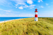 Sylt is the largest North Frisian island and is a popular destination for fine food and water sports. Located off Schleswig-Holstein's North Sea coast.