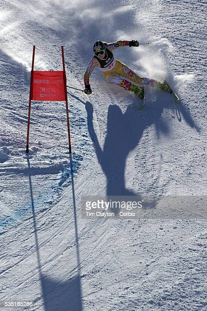 Elli Terwiel Canada in action during the Women's Giant Slalom competition at Coronet Peak New Zealand during the Winter Games Queenstown New Zealand...