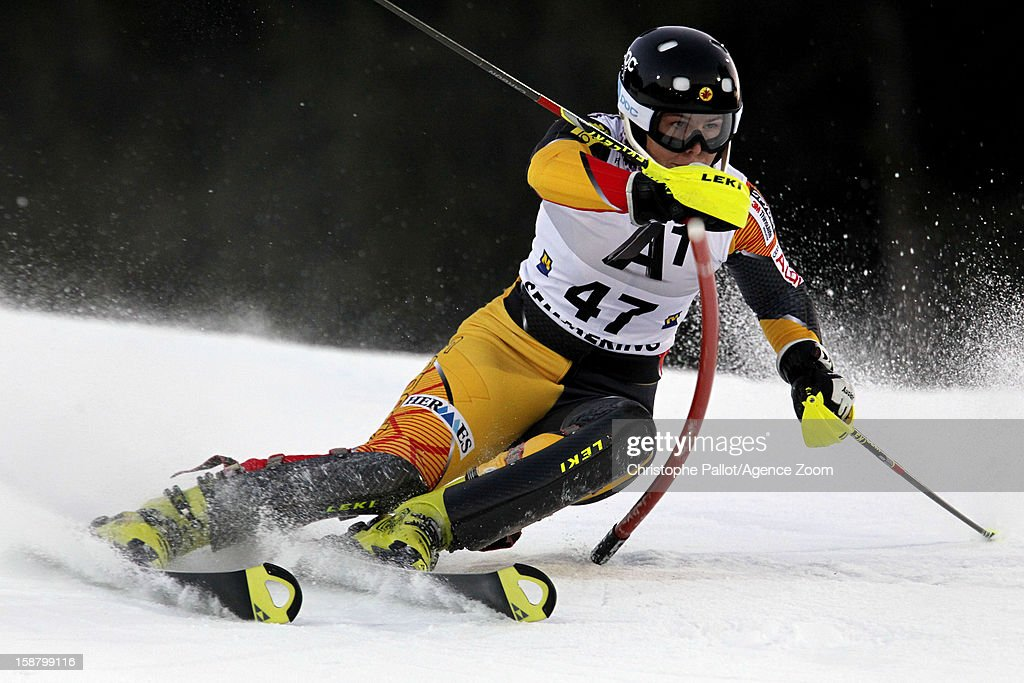 Elli Terwiel of Canada competes during the Audi FIS Alpine Ski World Cup Women's Slalom on December 29, 2012 in Semmering, Austria.