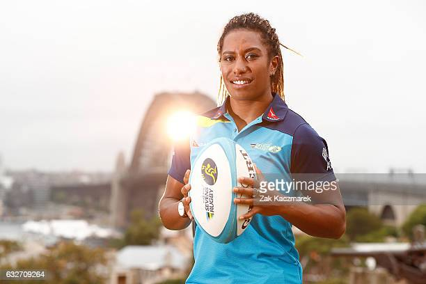 Ellia Green poses at Observatory Hill on January 26 2017 in Sydney Australia The Australian Women's Sevens team received OAMs for their gold medal...