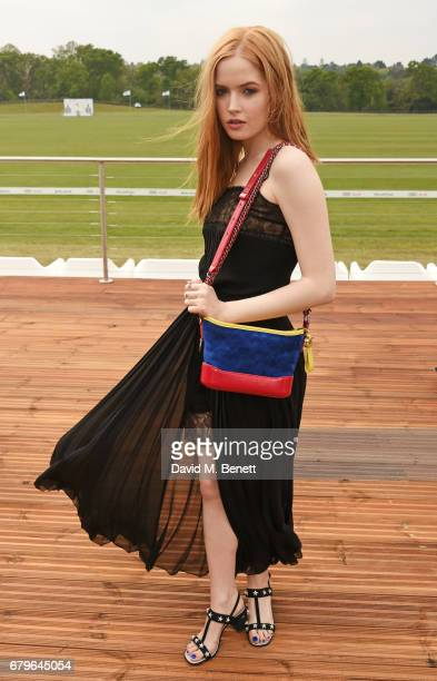 Ellie Bamber attends the Audi Polo Challenge at Coworth Park on May 6 2017 in Ascot United Kingdom