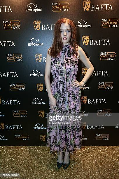 Ellie Bamber attends the BAFTA Film Gala in aid of the 'Give Something Back' campaign at BAFTA Piccadilly on February 11 2016 in London England