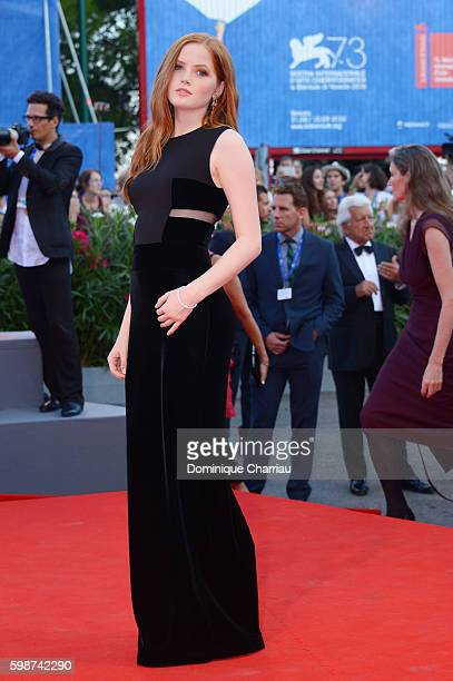 Ellie Bamber attends the premiere of 'Nocturnal Animals' during the 73rd Venice Film Festival at Sala Grande on September 2 2016 in Venice Italy