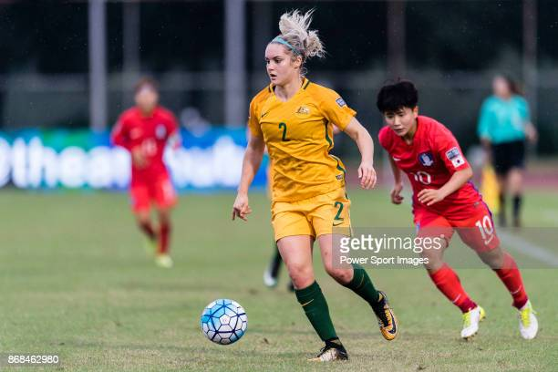 Ellie Carpenter of Australia in action during their AFC U19 Women's Championship 2017 Group Stage B match between South Korea and Australia at...