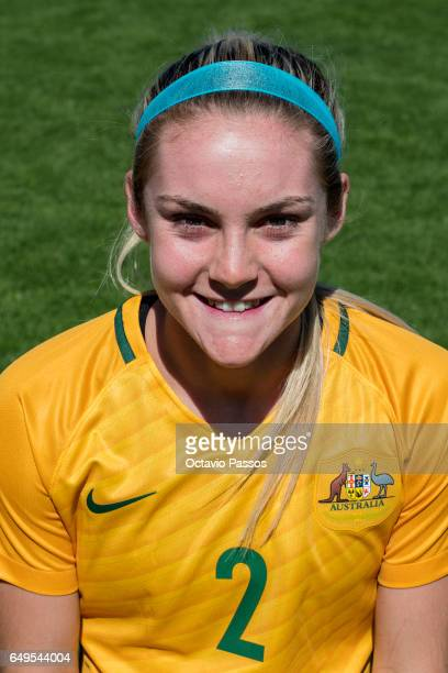 Ellie Carpenter of Australia poses for a portrait prior the Women's Algarve Cup Tournament match between Australia and Denmark at Municipal de...