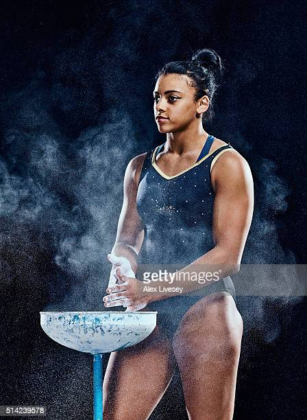 Ellie Downie of the British Gymnastics Team poses during a portrait session at Lilleshall National Sports Centre on February 11 2016 in Shropshire...
