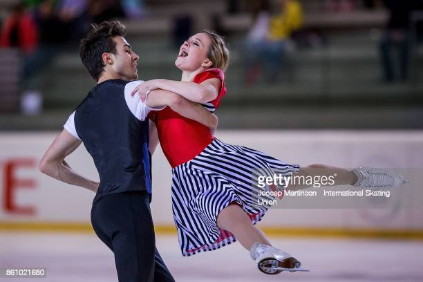 Ellie Fisher and Simon Pierre Malette Paque of Canada compete in the Junior Ice Dance Free Dance during day two of the ISU Junior Grand Prix of...