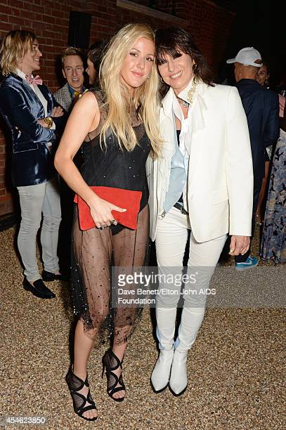 APPLIES Ellie Goulding and Chrissie Hynde attend the Woodside End of Summer party to benefit the Elton John AIDS Foundation sponsored by Chopard and...