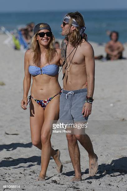 Ellie Goulding and Dougie Poynter are sighted on January 5 2015 in Miami Florida
