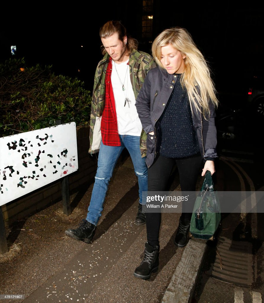 <a gi-track='captionPersonalityLinkClicked' href=/galleries/search?phrase=Ellie+Goulding&family=editorial&specificpeople=6389309 ng-click='$event.stopPropagation()'>Ellie Goulding</a> and <a gi-track='captionPersonalityLinkClicked' href=/galleries/search?phrase=Dougie+Poynter&family=editorial&specificpeople=214057 ng-click='$event.stopPropagation()'>Dougie Poynter</a> both seen out in London on February 26, 2014 in London, England.