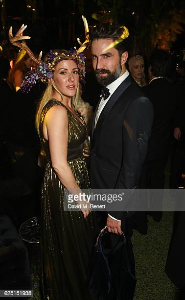 Ellie Goulding and Jack Guinness attend The Animal Ball 2016 presented by Elephant Family at Victoria House on November 22 2016 in London England