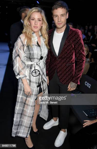 Ellie Goulding and Liam Payne attend the Emporio Armani Show on September 17 2017 in London England