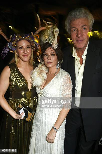 Ellie Goulding Anna Friel and Henry Wyndham attend The Animal Ball 2016 presented by Elephant Family at Victoria House on November 22 2016 in London...