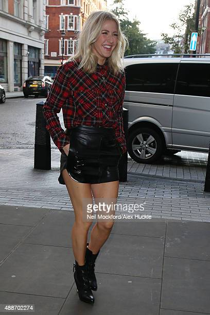 Ellie Goulding arriving at BBC Radio One on September 17 2015 in London England