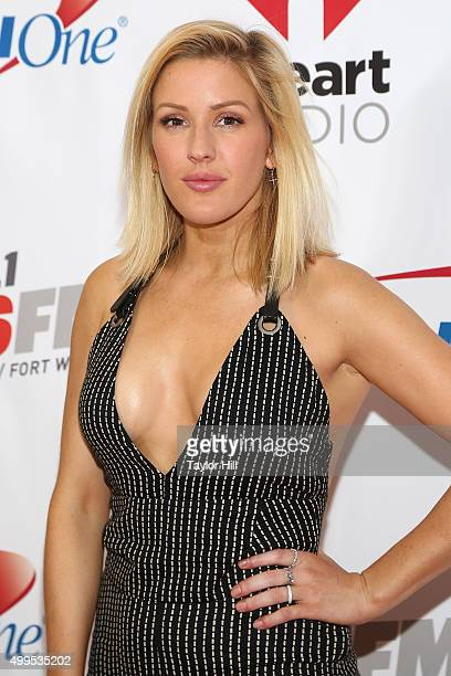 Ellie Goulding attends 1061 KISS FM's 2015 Jingle Ball at American Airlines Center on December 1 2015 in Dallas Texas