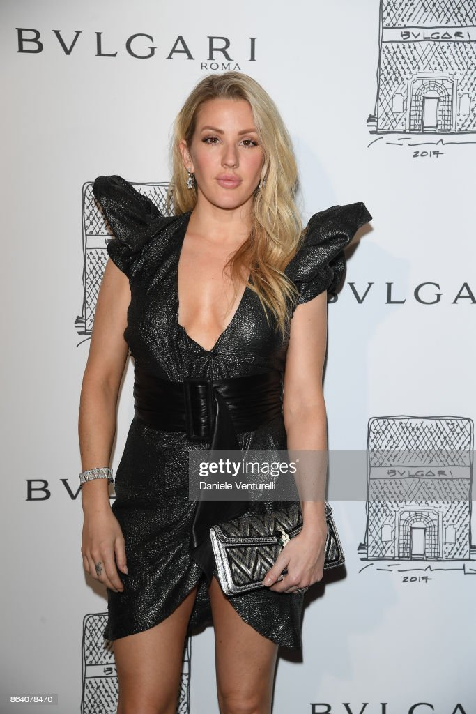 Ellie Goulding attends a party to celebrate the Bvlgari Flagship Store Reopening on October 20, 2017 in New York City.
