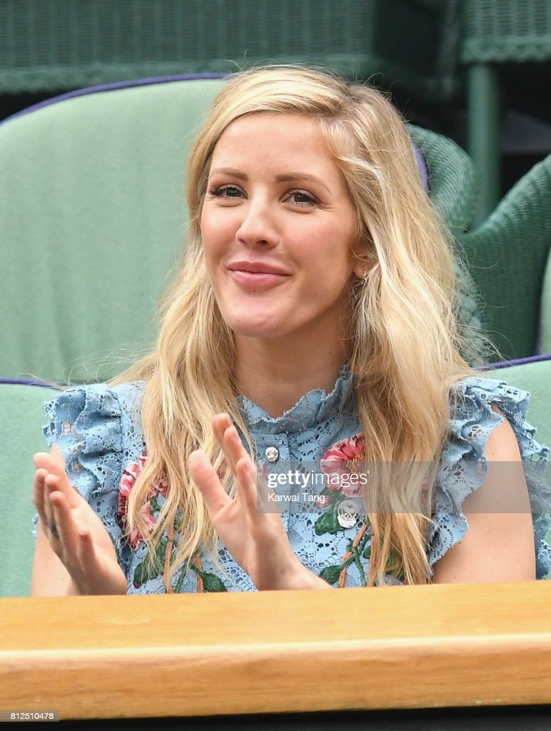 Ellie Goulding attends day eight of the Wimbledon Tennis Championships at the All England Lawn Tennis and Croquet Club on July 11, 2017 in London, United Kingdom.