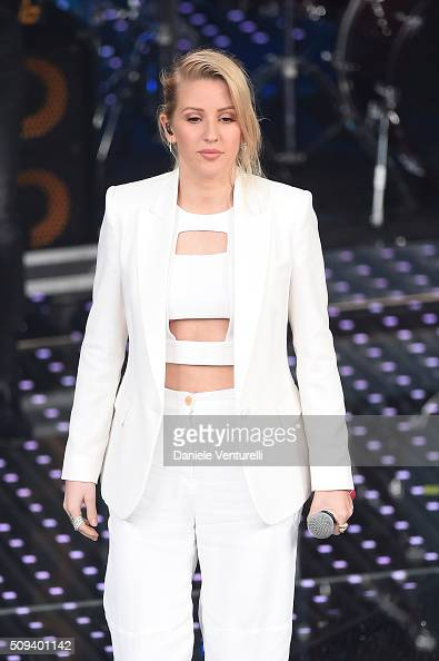 Ellie Goulding attends second night of the 66th Festival di Sanremo 2016 at Teatro Ariston on February 10 2016 in Sanremo Italy