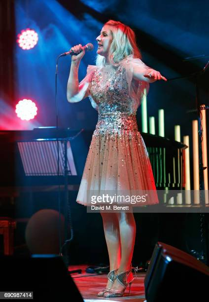 Ellie Goulding attends the 50th anniversary of The Beatles SGT Pepper Album at Abbey Road Studios for End The Silence and HopeHomes for Children on...