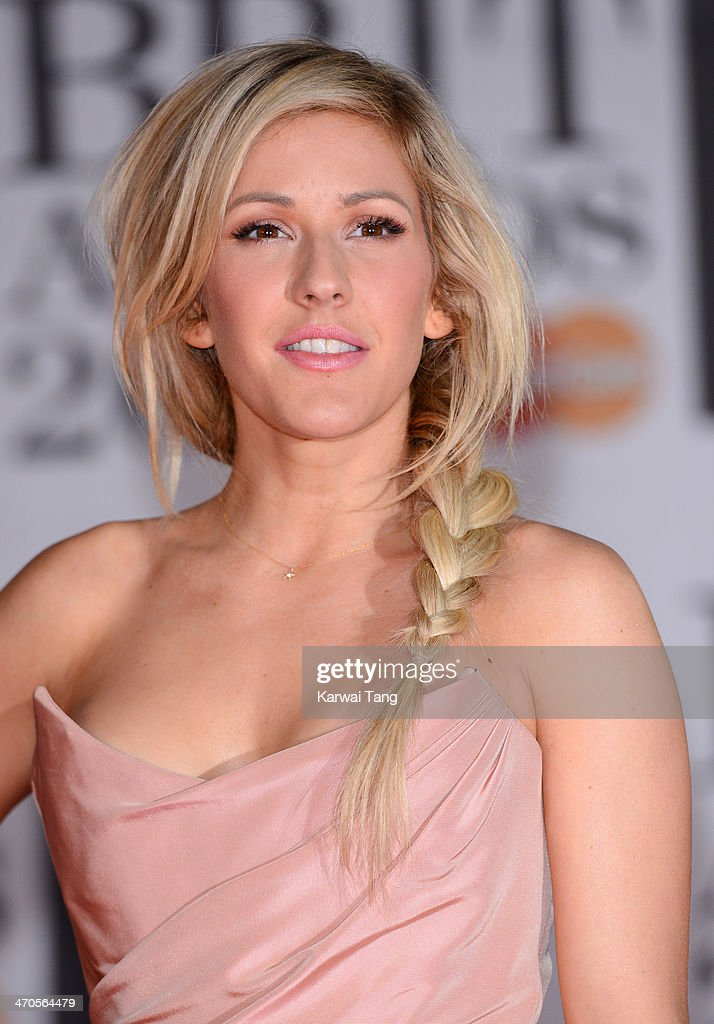 Ellie Goulding attends The BRIT Awards 2014 at 02 Arena on February 19, 2014 in London, England.