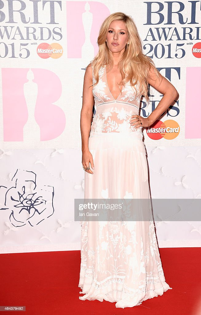 <a gi-track='captionPersonalityLinkClicked' href=/galleries/search?phrase=Ellie+Goulding&family=editorial&specificpeople=6389309 ng-click='$event.stopPropagation()'>Ellie Goulding</a> attends the BRIT Awards 2015 at The O2 Arena on February 25, 2015 in London, England.
