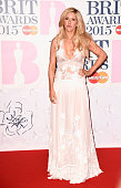 Ellie Goulding attends the BRIT Awards 2015 at The O2 Arena on February 25 2015 in London England