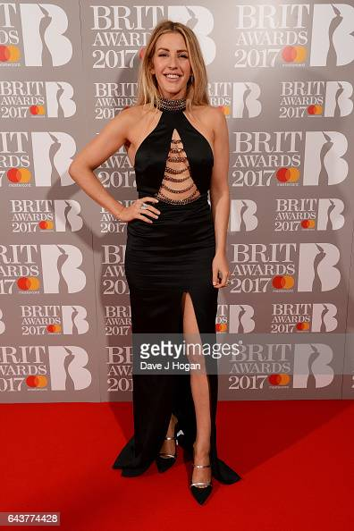 ONLY Ellie Goulding attends The BRIT Awards 2017 at The O2 Arena on February 22 2017 in London England