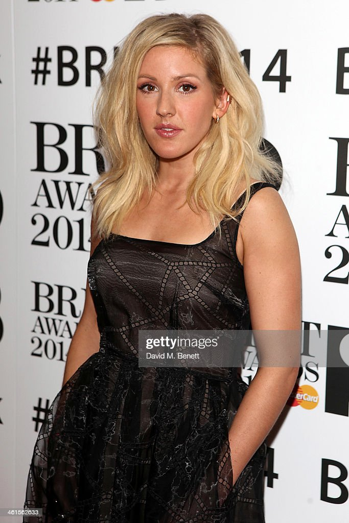 <a gi-track='captionPersonalityLinkClicked' href=/galleries/search?phrase=Ellie+Goulding&family=editorial&specificpeople=6389309 ng-click='$event.stopPropagation()'>Ellie Goulding</a> attends the BRIT Awards nominations on January 9, 2014 in London, England.