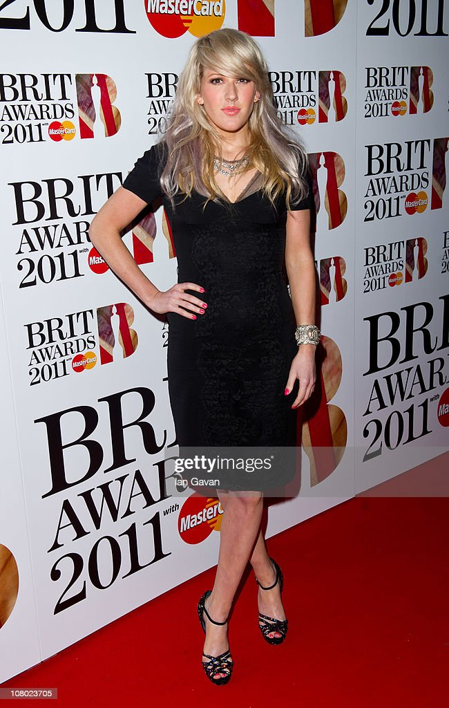 Ellie Goulding attends the Brit Awards Shortlist Announcement at the Indigo at O2 Arena on January 13, 2011 in London, England.