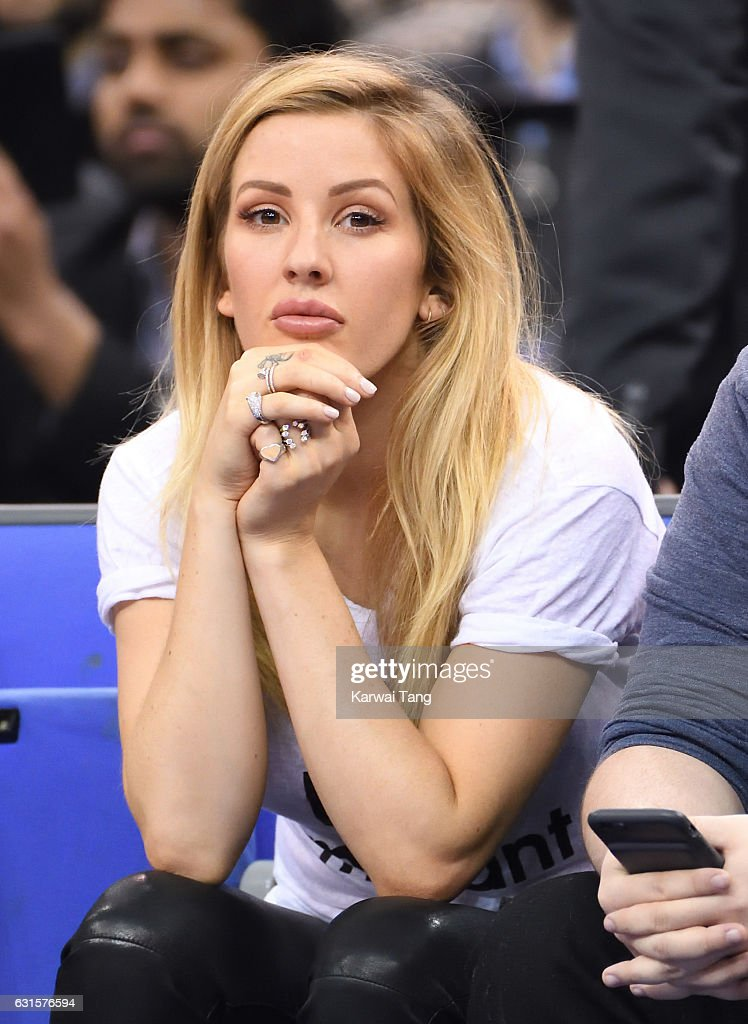 Ellie Goulding attends the Denver Nuggets v Indiana Pacers match as part of the NBA Global Games London 2017 at The O2 Arena on January 12, 2017 in London, England.