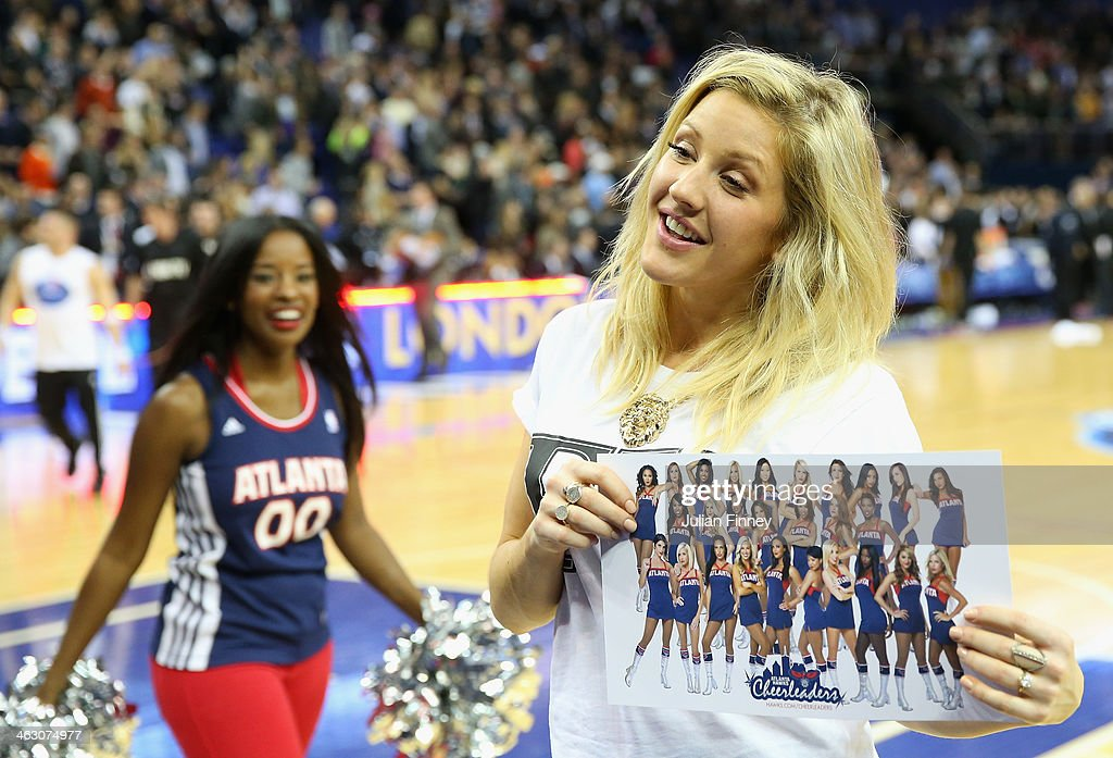 Ellie Goulding attends the Eastern Conference NBA match between Brooklyn Nets and Atlanta Hawks at O2 Arena on January 16, 2014 in London, England.