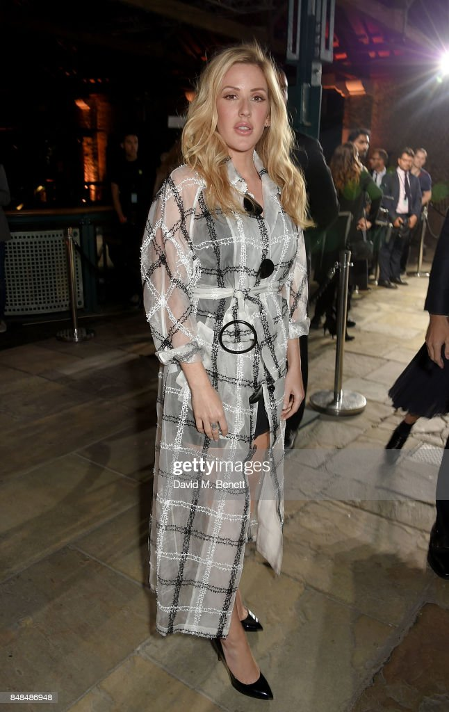 Ellie Goulding attends the Emporio Armani Show on September 17, 2017 in London, England.