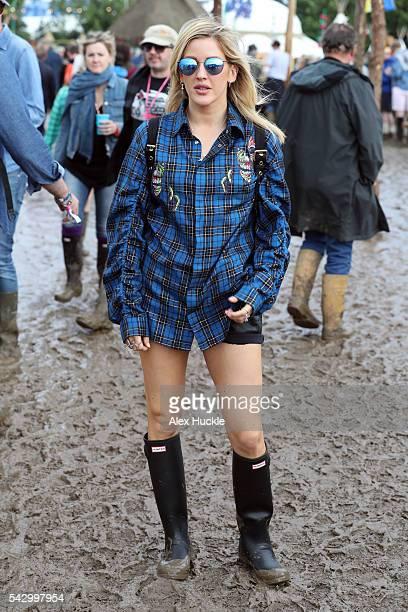 Ellie Goulding attends the Glastonbury Festival at Worthy Farm Pilton on June 25 2016 in Glastonbury England