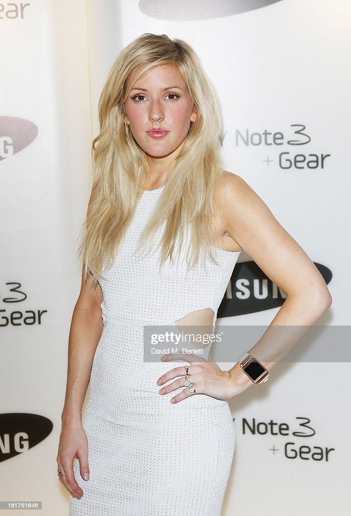 Ellie Goulding attends the Samsung Galaxy Gear and Note 3 launch event at the Radio Rooftop Bar Hotel Me London on September 24 2013 in London England
