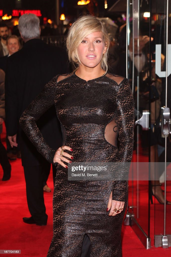 <a gi-track='captionPersonalityLinkClicked' href=/galleries/search?phrase=Ellie+Goulding&family=editorial&specificpeople=6389309 ng-click='$event.stopPropagation()'>Ellie Goulding</a> attends the UK Premiere of 'The Hunger Games: Catching Fire' at Odeon Leicester Square on November 11, 2013 in London, England.