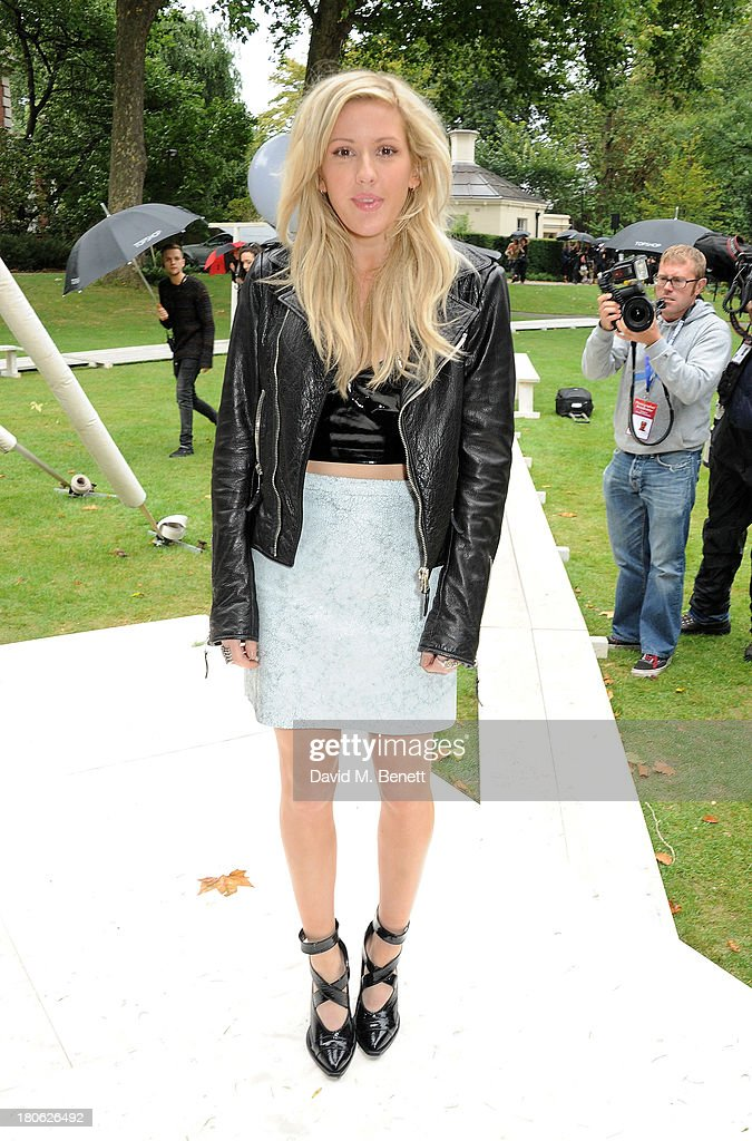 <a gi-track='captionPersonalityLinkClicked' href=/galleries/search?phrase=Ellie+Goulding&family=editorial&specificpeople=6389309 ng-click='$event.stopPropagation()'>Ellie Goulding</a> attends the Unique SS14 show during London Fashion Week on September 15, 2013 in London, England.
