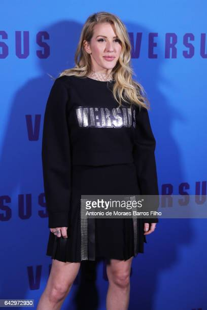 Ellie Goulding attends the VERSUS show during the London Fashion Week February 2017 collections on February 18 2017 in London England