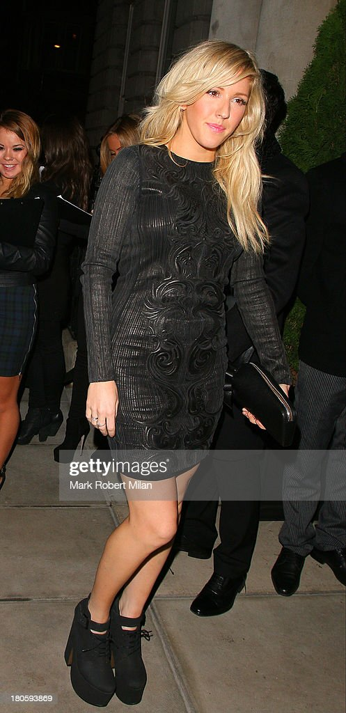 Ellie Goulding attends the W Magazine September issue party at The London EDITION hotel on September 14 2013 in London England
