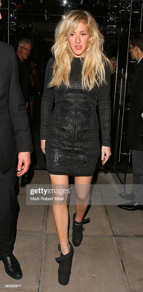 Ellie Goulding attends the W Magazine September issue party at The London EDITION hotel on September 14, 2013 in London, England.