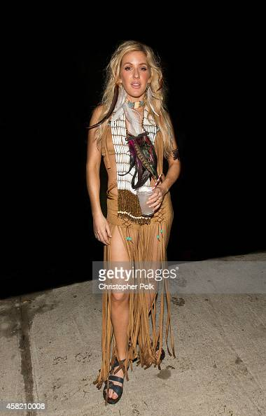 Ellie Goulding celebrates Halloween at the Bacardi Triangle event on October 31 2014 in Fajardo Puerto Rico The event saw 1862 music fans take on one...