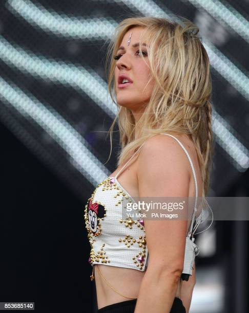 Ellie Goulding performing on the Main Stage at the Wireless Festival in Finsbury Park north London