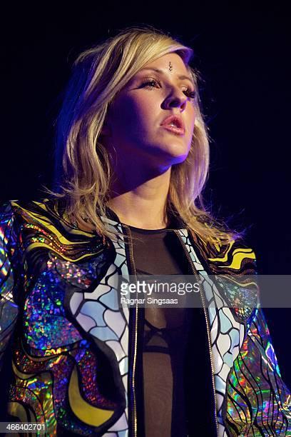 Ellie Goulding performs at Oslo Spektrum on February 1 2014 in Oslo Norway
