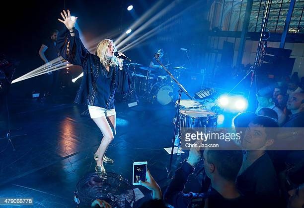 Ellie Goulding performs at the celebration of Marriott International's and Universal Music Group's global marketing partnership at the St Pancras...