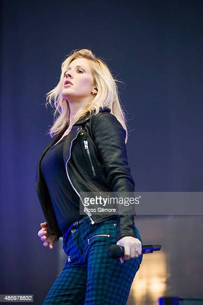 Ellie Goulding performs at the Glasgow Summer Sessions at Bellahouston Park on August 30 2015 in Glasgow Scotland